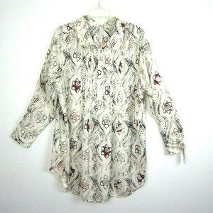 Melissa McCarthy Seven7 2X Tunic Top Floral NEW